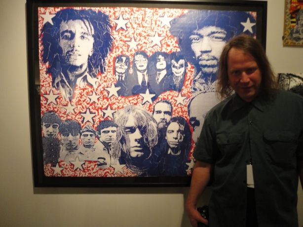 Bruce's World Rock Stars painting