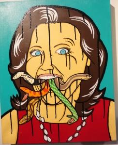 Bruce's World snake mouth woman