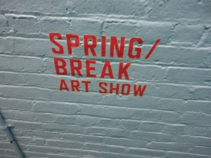 Bruce's World Spring Break sign on brick wall 5