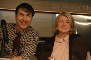Christophe Pourny and Martha Stewart
